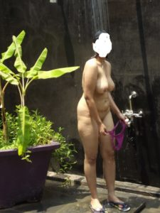 chubby milf outdoor shower