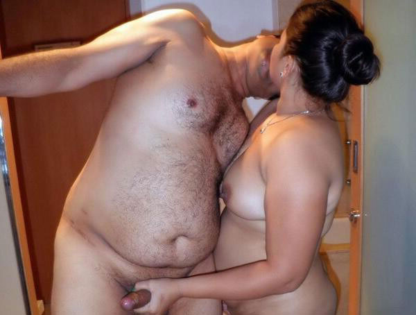 Horny naked indian couples doing sex when alone at home