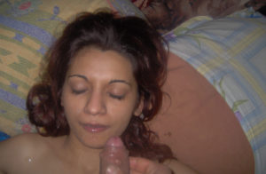 freaky babe giving blowjob