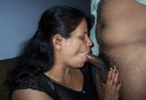 horny indian babe giving blowjob