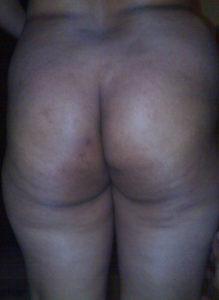 curvy nude bum babe