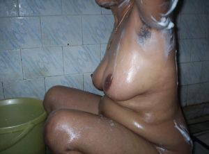 nude indian babe bathing
