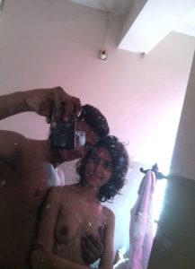 desi couple taking selfie