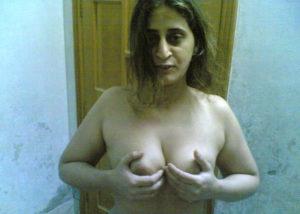 horny aunty touching boobs